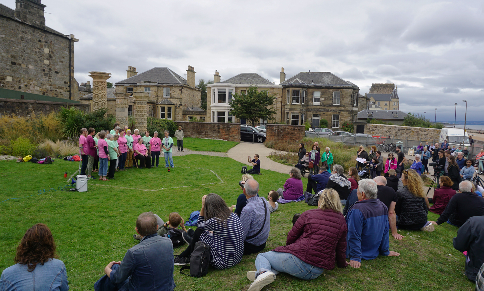 Bandstand Project performing at old site of Portobello Bandstand
